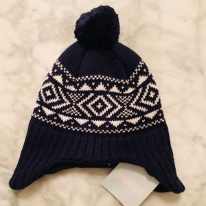 Gymboree Navy winter hat with ear flaps